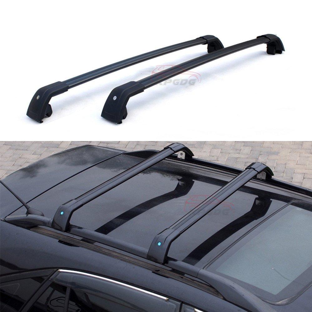 Black Fit for Hyundai Santa Fe 2010-2012 Lockable Roof Rack Crossbars Luggage Racks Carrier