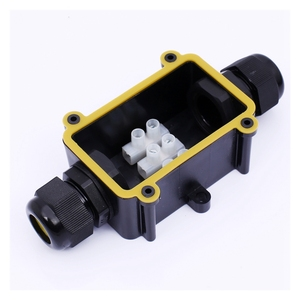 Low Price 138.2mm*110.2mm*52.4mm IP68 Terminal Black Plastic waterproof enclosure Junctions Boxes