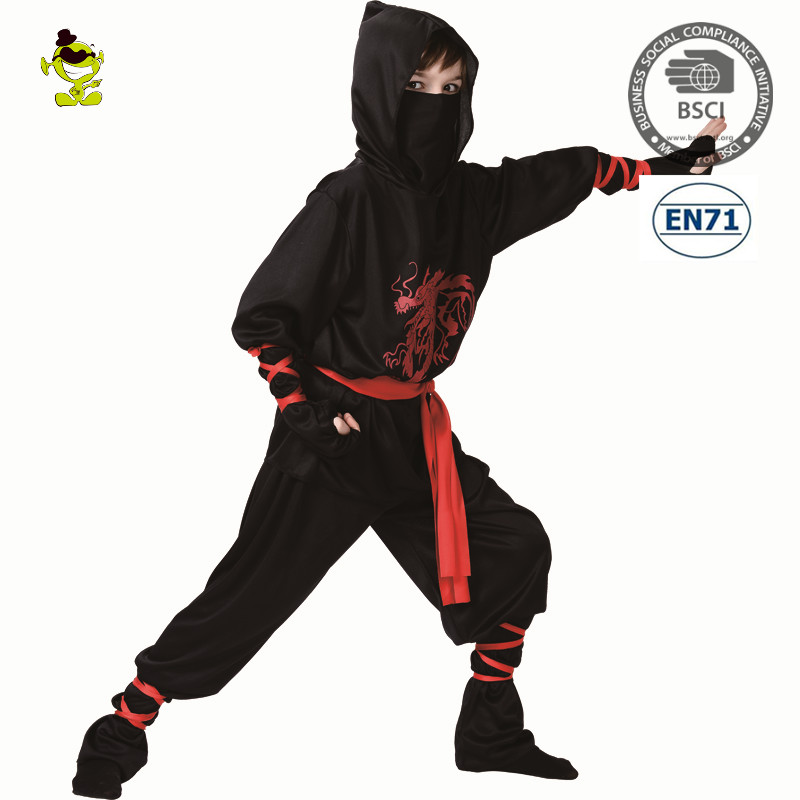 A Wholesale party costumes Fashion Ninja Kids Cosplay Ninja Dragon Costume Child for Halloween Party