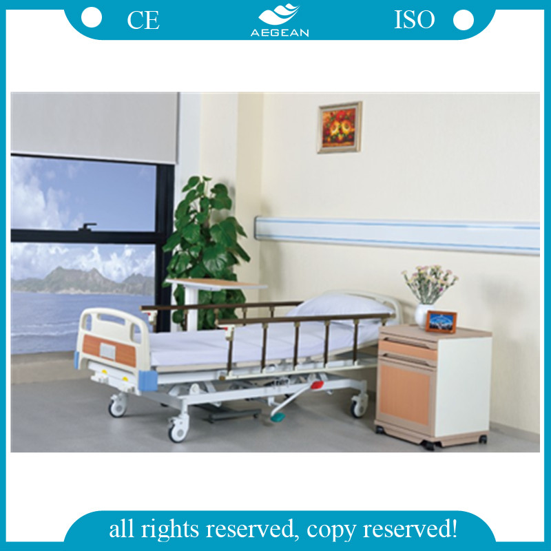 Advanced hospital hydraulic type manual manufactures adjustable sick bed