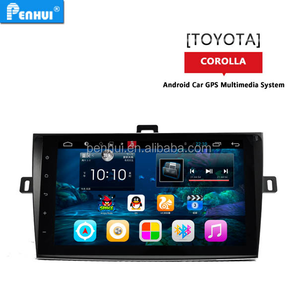 Android 4.4 quad core car radio stereo player for <strong>toyota</strong> <strong>corolla</strong> 2007-2013 SUPOORT 3g wifi rds mirror link free map with DVD