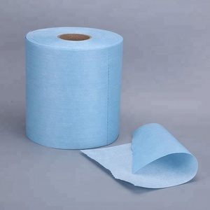 China supplier high performance disposable industrial blue wipe rolls