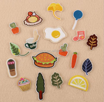 High Quality Hot Fix Jeans Designs Custom Foods Patches Embroidery