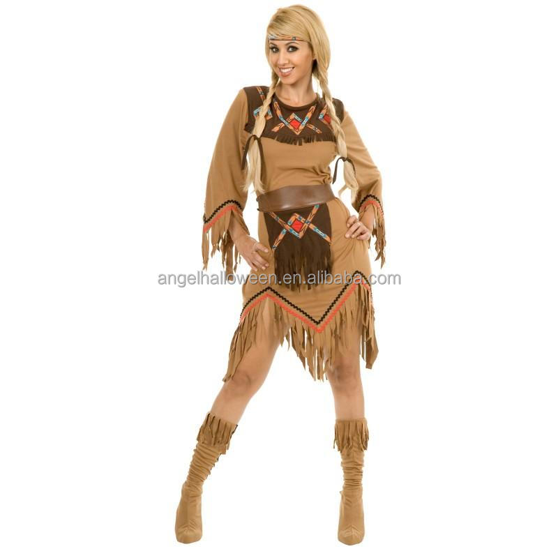 2016 latest design sexy sacajawea Indian maiden adult costume for halloween AGC2433