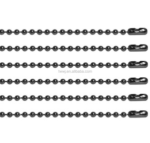 Pull Chain Extension Brushed Nickel Beaded Ball Chain With Connector