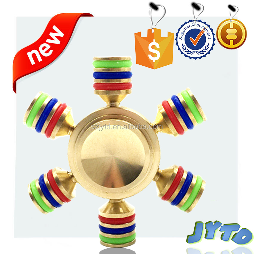 NEW 2017 ORIGINAL DRAGON SPINNER Six Winged Brass Hand Fidget Spinner Toy EDC Luxury Helps You Focus And Reduce Stress Spins Up
