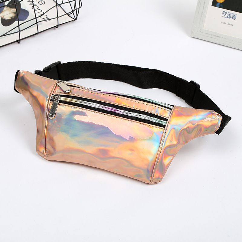 2019 Holographic Fanny Pack Women Laser Bum Bag Travel Beach Shiny Waist Bags Hip Bag Fashion Hologram PVC Travel Bag
