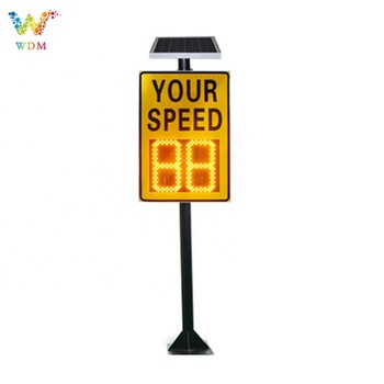10 Years Factory High Quality Traffic Warning Moving LED Solar Speed Radar Speed Sign