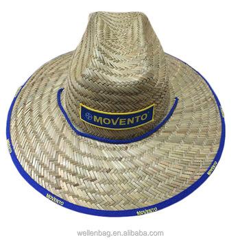 Personalizzato Naturale Erba Cappello A Tesa Larga Cappello di Paglia  All aperto Surf Cappello In add739c711b1