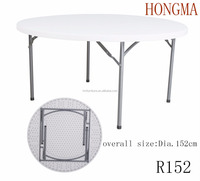 hongma folding table quick set up round folding table round banquet folding table