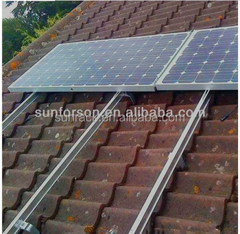mounting solar panels on a tile roof