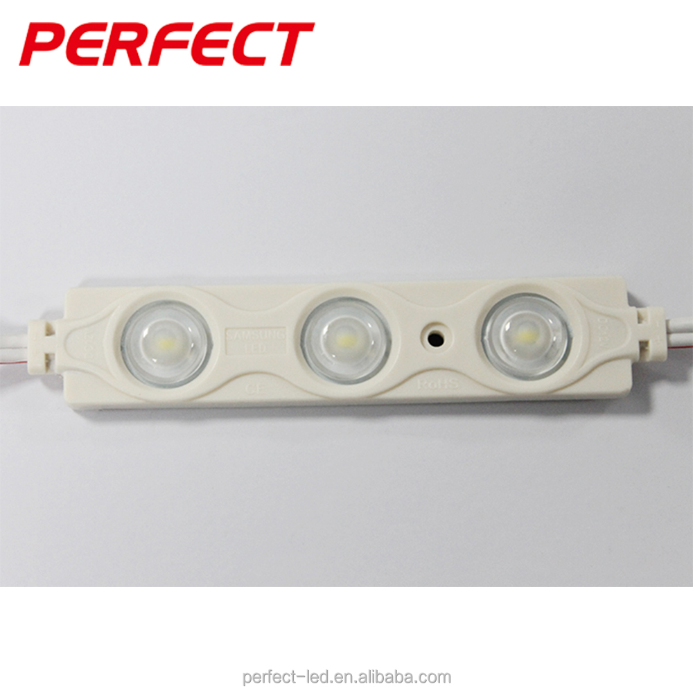 2016 hot sell 3-leds/pcs Samsung SMD5630 injection led module good price 12v dc white led module smd5630