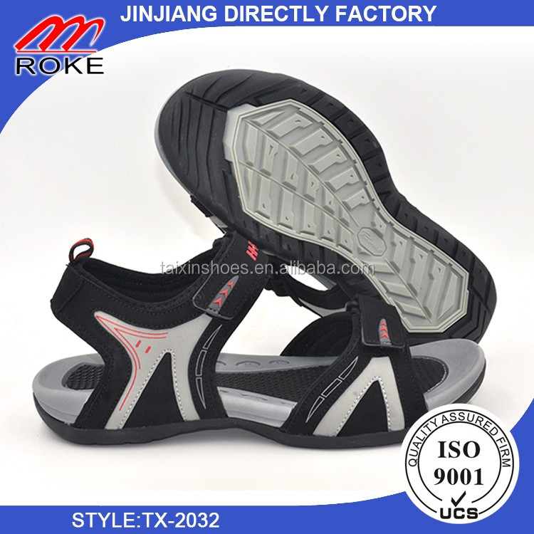New men outdoor summer buckle strap beach PU sandals for men