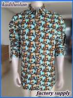 pigment printing pearl button hawaiian man shirt