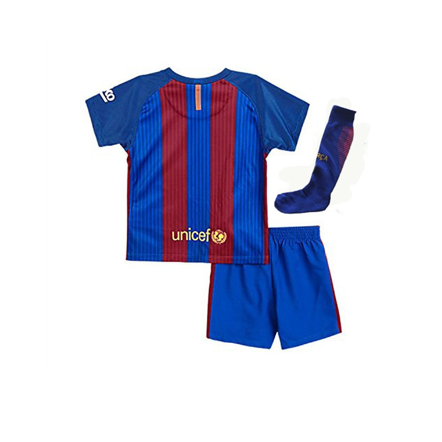 541ab9caf Get Quotations · Nino Top 2017 Barcelona Messi No.10 Youth Home Kit  Shirt+Short+Socks