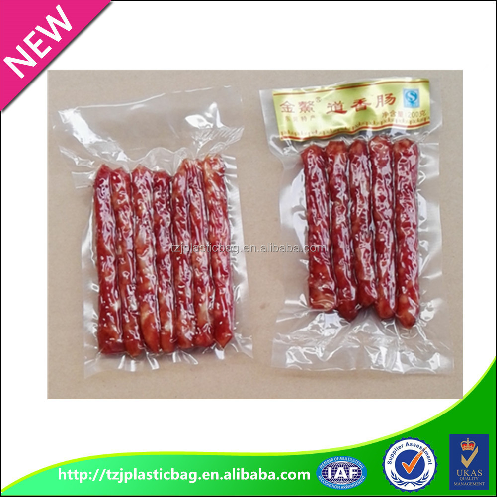 supply three side seal composite PE vacuum transparent food packaging bag