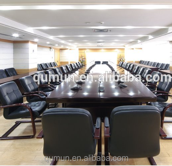 Whole Sale Veneer Big Large Conference TableMeeting Table Desk - Glass conference table for sale