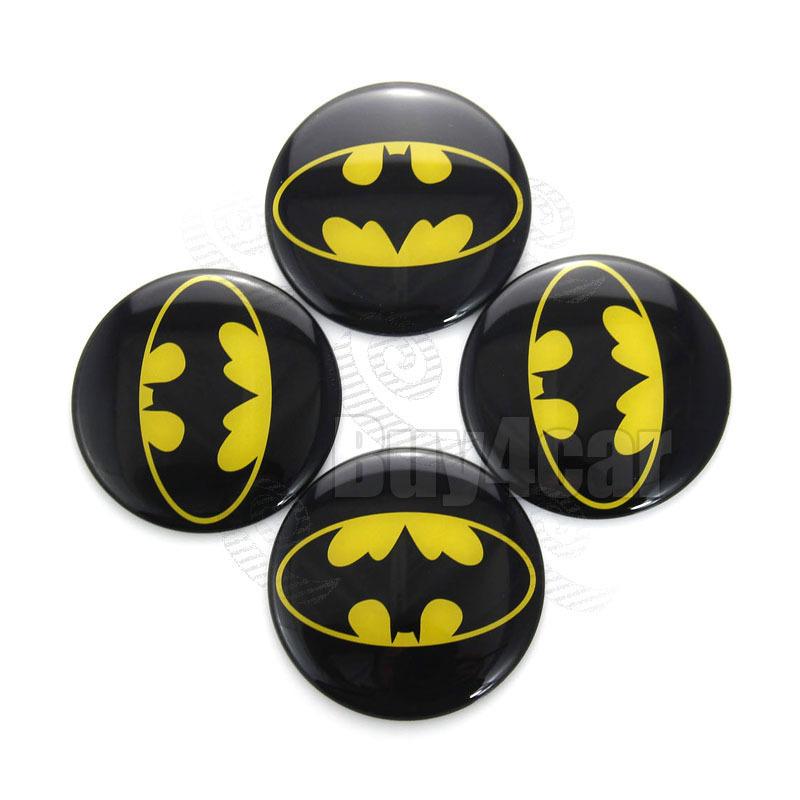 sports shoes d9158 e2120 Get Quotations · 4pcs Batman The Dark Knight logo 60mm Steering Wheel  Center Hub Cap Emblem Auto Badge Decal