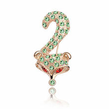 BR4155 2013 18K Rose Gold Plating And Pave Genuine Austrian Crystal Fox Brooch For Women