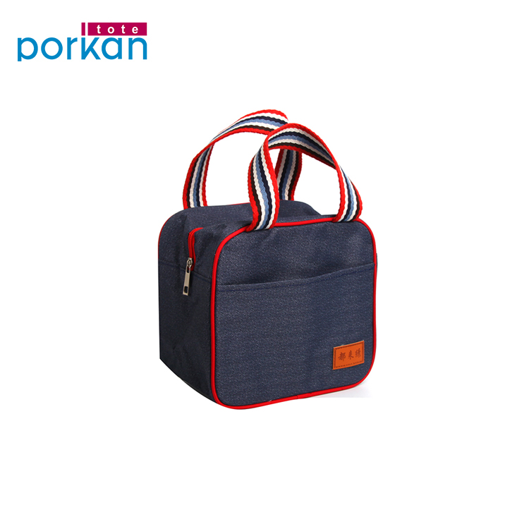 Multicolor Herbruikbare Aangepaste Polyester Lunch Tas