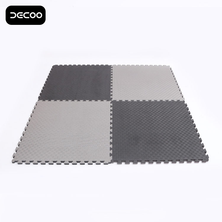 BlackGrey T pattern 2.5cm Karate Mat