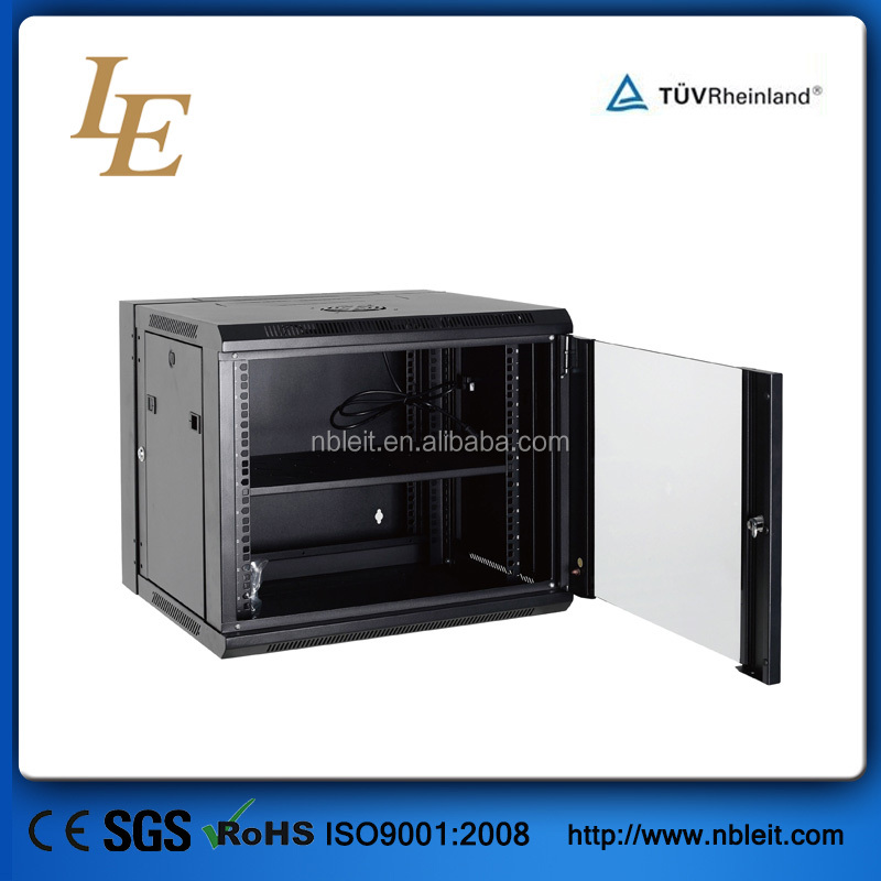 China manufacturer good quality OEM glass door removeable side panel shallow server rack mount 19 for switch