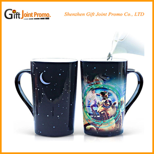 Top quality OEM Sublimation Photo changing color Ceramic Travel Mug