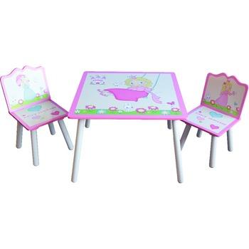 Design 60x60x44 Cm Prinzessin Druck Platz Kinder Tisch Und Stuhle