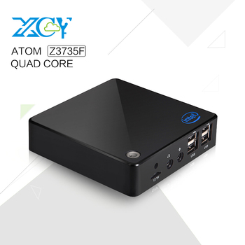 XCY Hotel PC Atom Quad-Core Small PC 1.8Ghz Support win8.1 or Plastic Case Black or white 2G RAM Small PC
