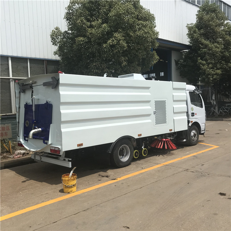 5000 liters water tank and 5000 liters suction tank high pressure water truck road sweeper