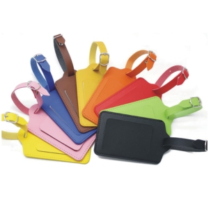 Multi-color PU Leather PVC card holder Suitcase Labels Baggage Handbag Luggage Tag for Travel