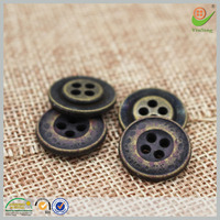 eco-friendly nickle free company name brand logo custom jeans vintage buttons