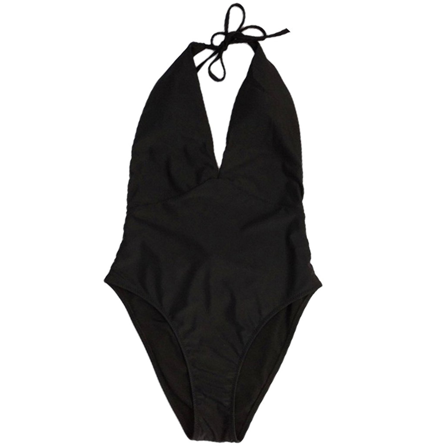 b8951955c28bc Get Quotations · Redriver 2018 New One Piece Sexy Swimsuit Bandage Plus  Size Swimwear Low Bust Swimsuit Women's Suit