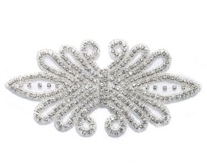 rhinestone applique embroidered craft for sash/belt/headband wedding dress patches