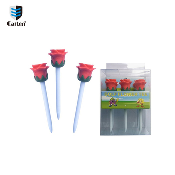 Factory custom plastic 83mm golf rose tee, promotional golf accessory