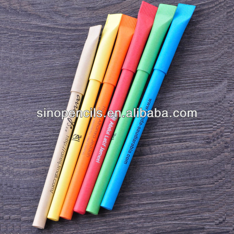 2014 Hot promotional logo tooth paper pen
