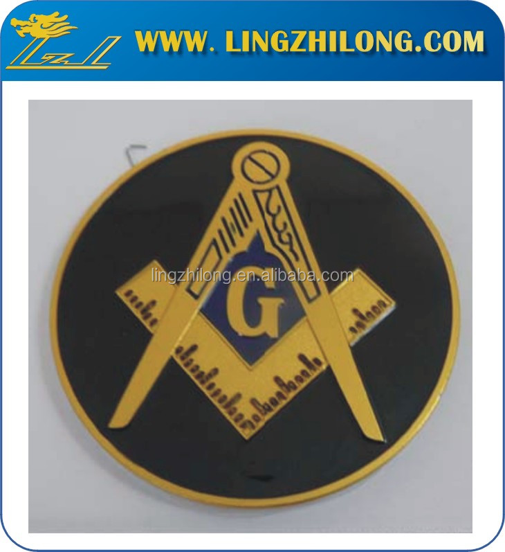 High Quality Free Mason Auto Badge Stock Metal Crafts Car Logo ...