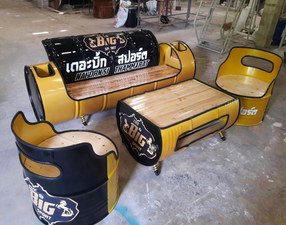 Estilo Industrial Loft Restaurante Al Aire Libre Muebles