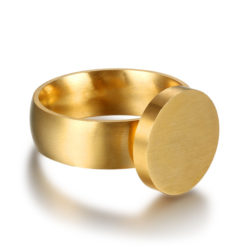 Athenaa Plain Surface Round Dubai Gold Ring Designs Man Finger ...