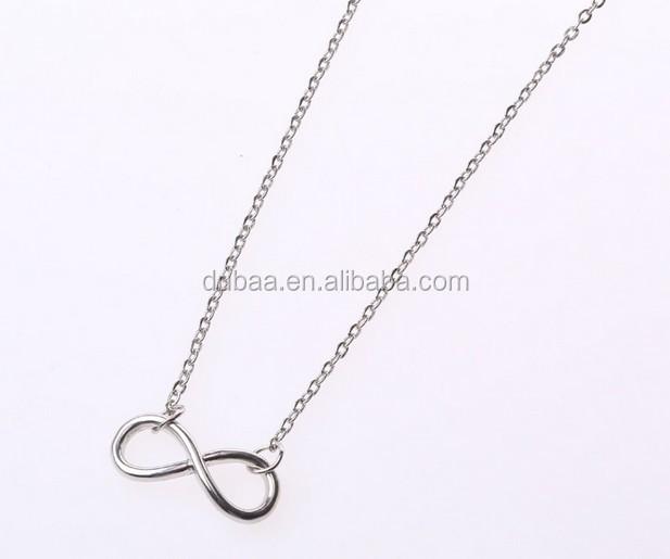 Fashion Gold Infinity Symbol Pendant Necklace Wholesale Infinity