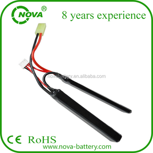 LiPO battery 7.4V 11.1V 1200mAh 20C Stick pack for airsoft gun