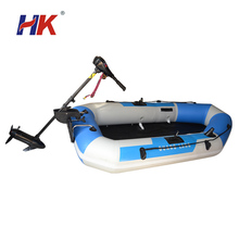 Noiseless inflatable boat with electric motor for sale