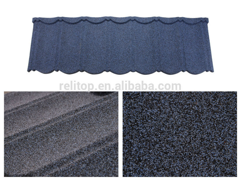 China Hot Sell Building Stone Coated Steel Roofing Stone Roof ...