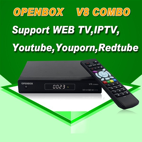 DECODER DIGITALE SATELLITARE DUAL <strong>TUNER</strong> DVB-S2 T2 IPTV CCCAM OPENNBOX V8 COMBO