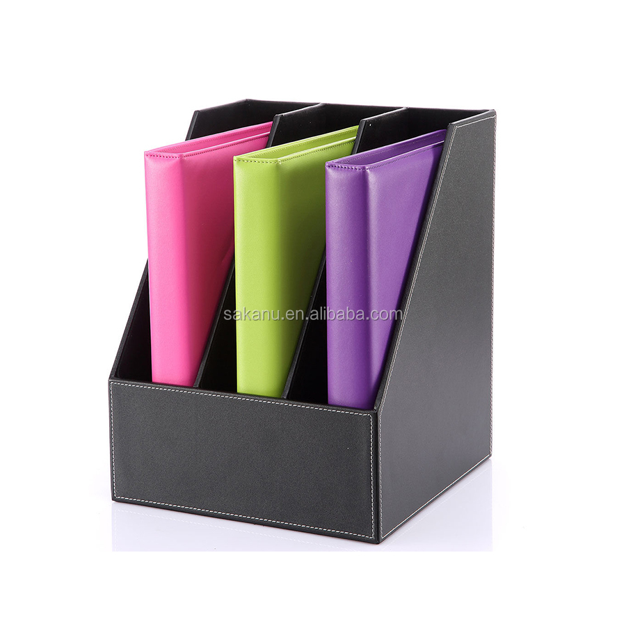 Simple A4 Document Holder Pu Leather Ring Binder File