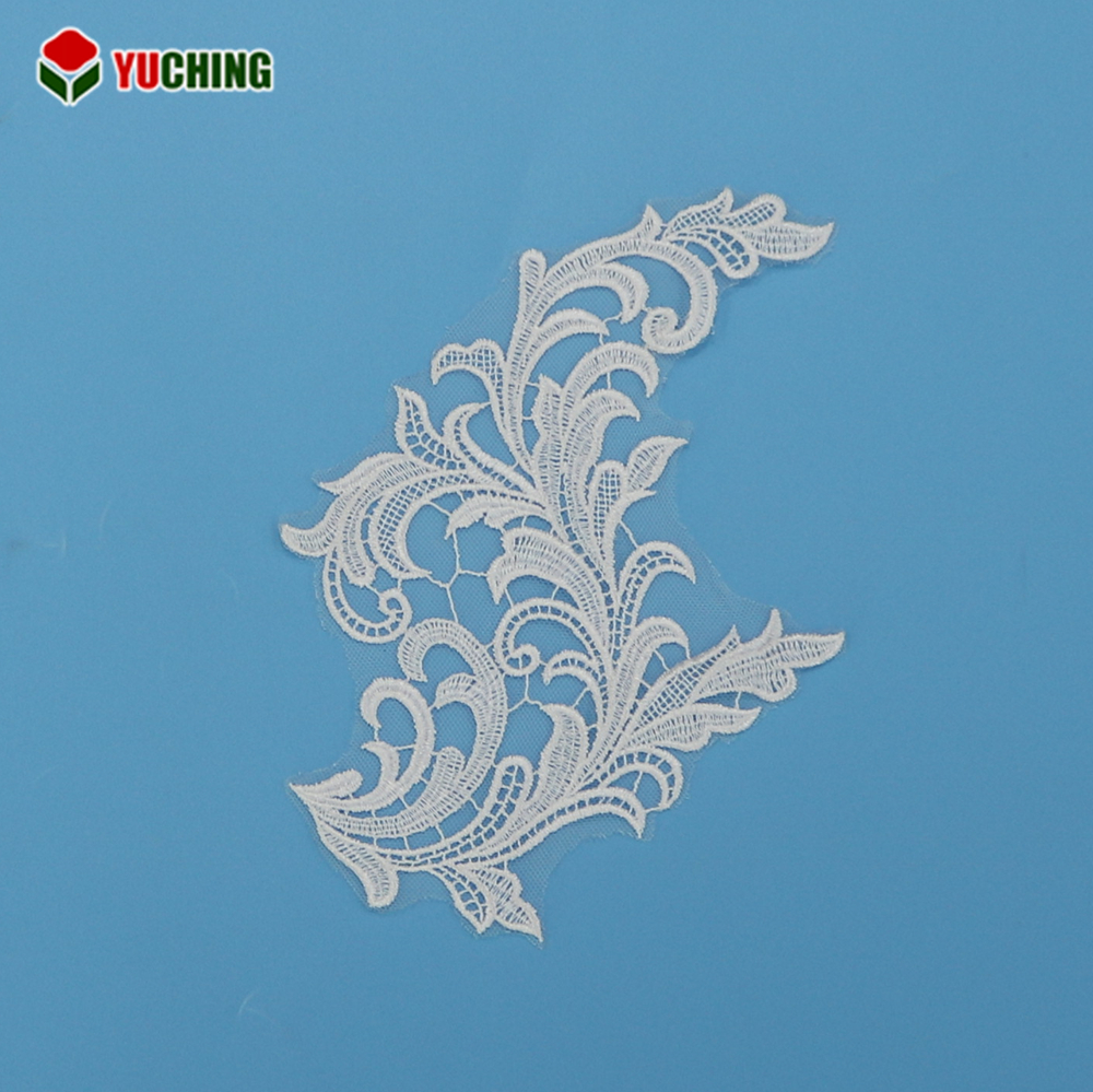 China manufacture ivory net embroidery african tulle lace fabric for overcoat