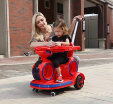 New Design Kids Electric Ride On Car with Retractable Pushing Bar Rocking Function
