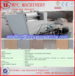 wooden panels wpc embossing machine