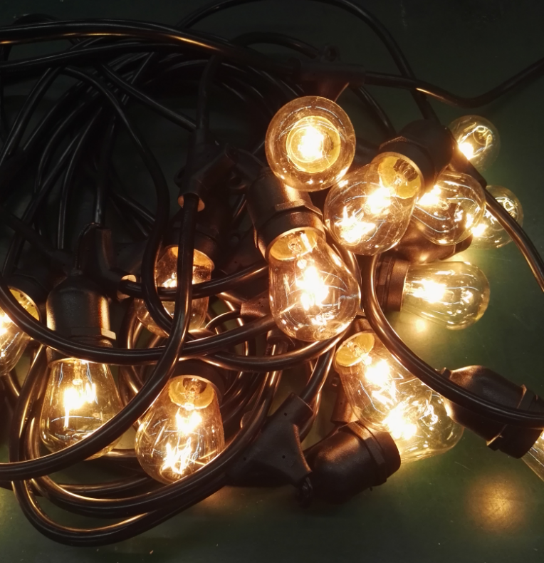 S14 Led String Lights Edison Decorative Outfit 48ft 15 Bulbs Light String Outdoor Christmas Tree ...