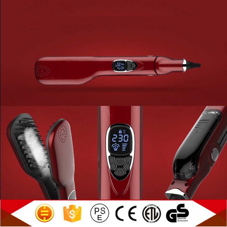 New Products 2016 Innovative Product Rotating Hair Iron Electric Steam Double Sided Hair Straightening Brush